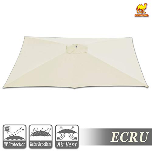 Strong Camel Replacement Umbrella Canopy for 10ft x 6.5 ft 6 Ribs Canopy Only Ecru