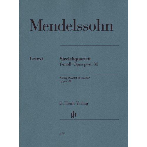 String Quartet in f minor, Op. post. 80 - Two Violins, Viola, and Cello (Cello Quartet Music)