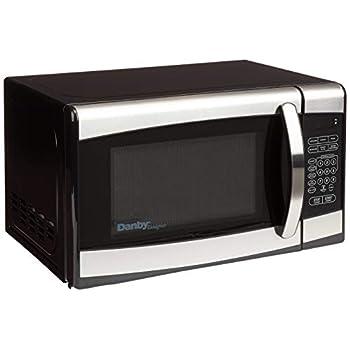 Image of Danby Designer 0.7 cu.ft. Countertop Microwave, Black/Stainless Steel
