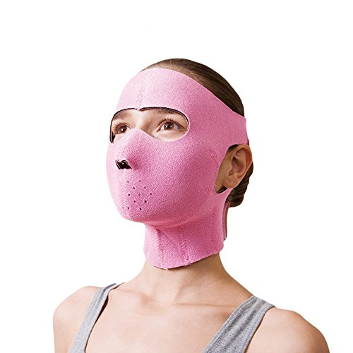 Japanese Cogit FaceLift Mask Germanium Face Slimming Sauna Rubber Mask Anti Wrinkle Women Use 3D V face Masks for Face Lift by Cogit