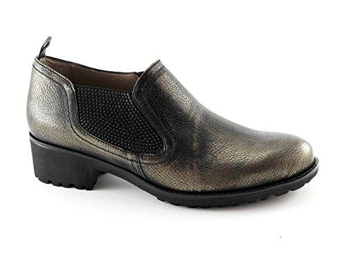 Melluso - Zapatos de cordones para mujer Gris Gris