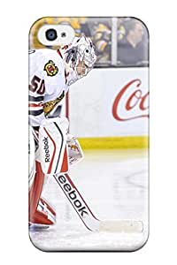 4/4s Scratch-proof Protection Case Cover For Iphone/ Hot Chicago Blackhawks (92) Phone Case