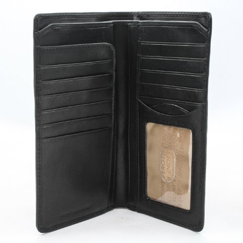 - Italian Leather Large Bifold Wallet Breast Pocket Checkbook Organizer with ID Window Multi Business & Credit Card Slots