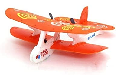 Orange Cessna 782 RC Biplane R/C Airplane Infrared Beginner Flight Indoor Trainer Plane RTF