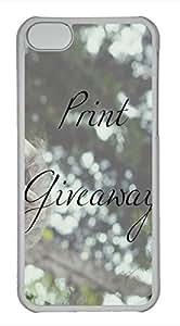 iPhone 5c case, Cute Print Giveaway iPhone 5c Cover, iPhone 5c Cases, Hard Clear iPhone 5c Covers
