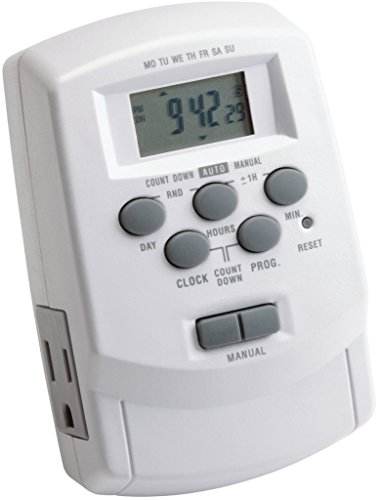 Kichler Lighting 15556WH Digital Transformer Timer with Daylight Savings and Battery Backup, White