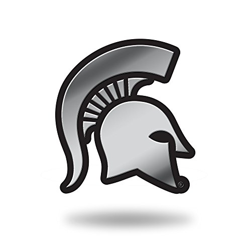 Rico Industries NCAA Michigan State Spartans Chrome Finished Auto Emblem 3D Sticker - Embossed Metallic Wallet