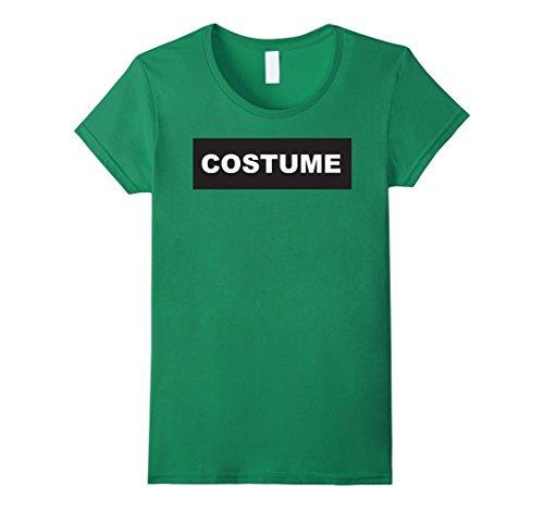 Womens Funny Last Minute Simple Halloween Costume Graphic Tshirt Medium Kelly (Simple Last Minute Halloween Costumes)
