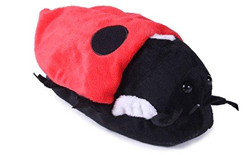Ladybug Happy para mujeres Feet hombres de Styles Zapatillas y pie 50 premium completo animales de vHrvy6R