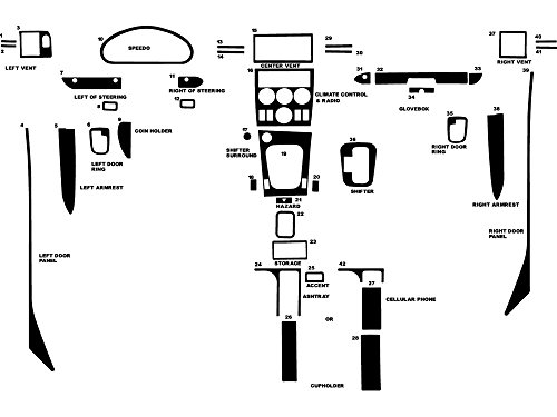Rdash Dash Kit Decal Trim for BMW Z3 2000-2003 - Wood Grain (Zebrano Mahogany)