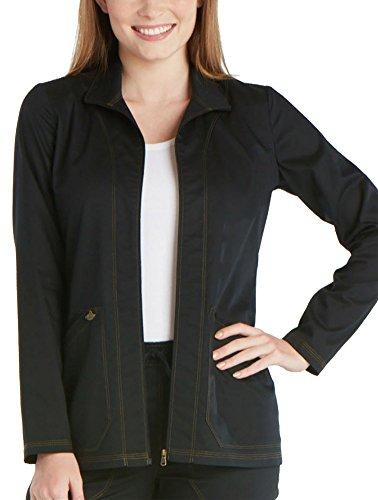 (Dickies Women's Essense Warm-up Jacket, Black, X-Large)