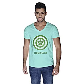 Creo Captain Saudi T-Shirt For Men - M, Green