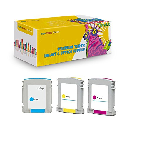 New York TonerTM New Compatible 3 Pack C4804A C4805A C4806A HP 12 High Yield Inkjet For HP Businessjet 3000 . -- Yellow Cyan Magenta