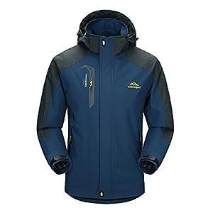 MAGCOMSEN Men's Hooded Softshell Outdoor Windproof Jacket Raincoat Mountain Hiking Lightweight Jacket