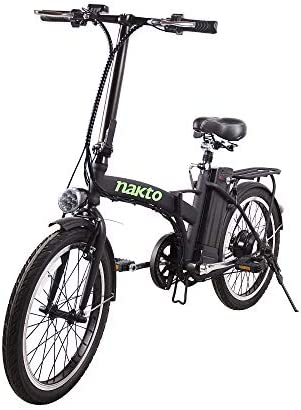 NAKTO Folding Electric Bicycle Lightweight and Aluminum Folding EBike,Electric Bicycles for Adults
