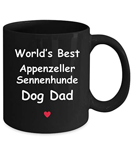Gift For Appenzeller Sennenhunde Dog Dad - World's Best - Fun Novelty Gift Idea Coffee Tea Cup Funny Presents Birthday Christmas Anniversary Thank You Appreciation 11oz Black Mug 2