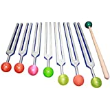 Radical 7 Chakra Tuning Forks - Colored Rubber Balls