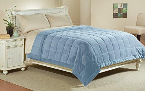 Luxlen Full / Queen Microfiber Blanket in Sky Blue | Reversi