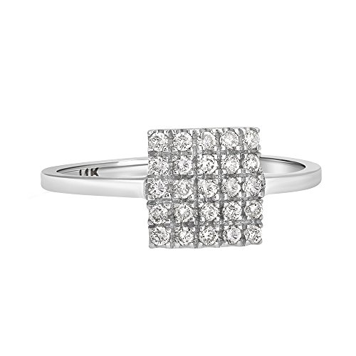 Square Shape Diamond Accented Ring - 3