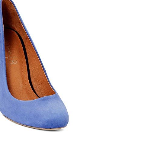 La Redoute Mademoiselle R Frau Lederpumps mit Dekorativem Absatz Gre 40 Blau