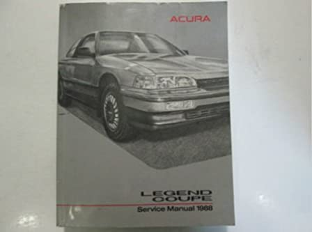 1988 acura legend coupe service repair shop manual factory oem book rh amazon com 1994 acura legend repair manual 1994 Acura Legend