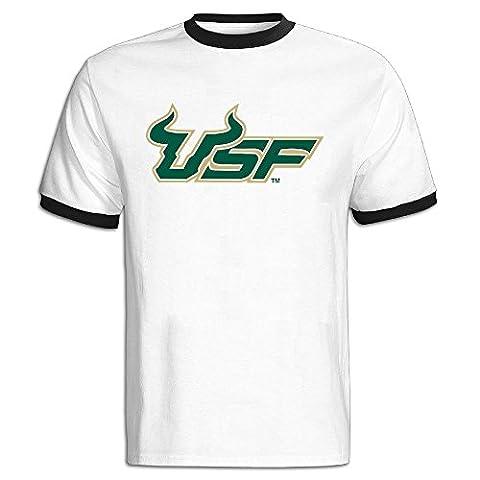 Dalymz South Florida Bulls Men's Contrasting Thread Tee Shirt O Neck Funny - New Mens Southern Thread