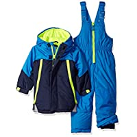 Wippette Baby Boys and Toddler Insulated Snowsuit, Colorblock Navy, 2T
