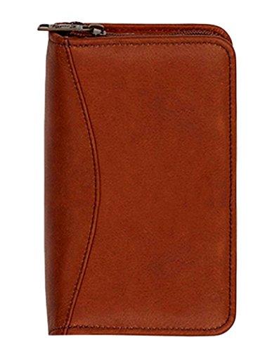 Scully Plonge Leather Zip Pocket Planner (Tan)