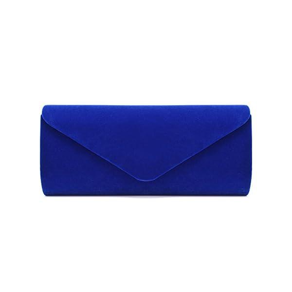 U-Story Women's Evening Wedding Party Velvet Envelope Clutch Bag Tote Purse Handbag