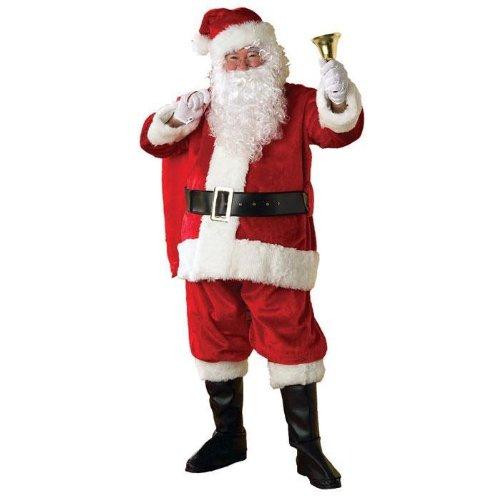 Rubies Costume Adult Mens Regency Plush Santa Claus Christmas Suit | X-Large (Suit Santa Regency)