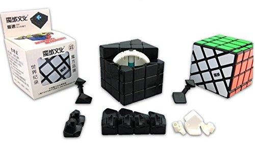 Moyu Aosu 4x4x4 Crazy Windmill (Hot Wheel) Puzzle Cube Black