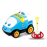Toys : Remote Control Car, RC Cartoon Police Car with Music Electric Radio Controlled Cars for Kids