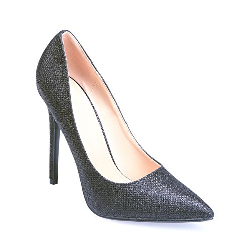 Sintético De Modeuse Negro Material Zapatos Vestir La Mujer qwR6Xxx4