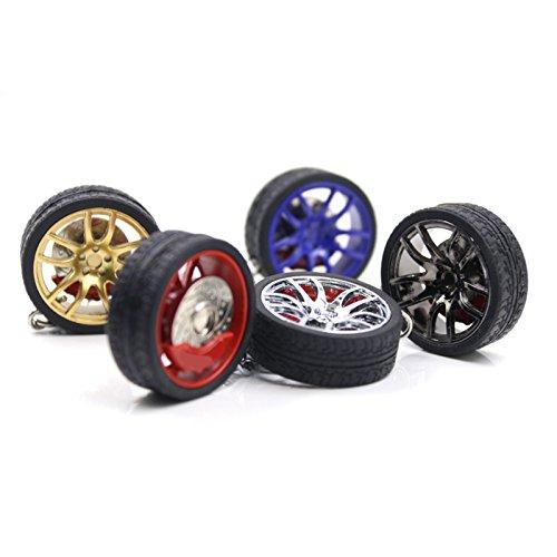 Sunsbell Llavero de la rueda de coche, ruedas de coches números Turbo llavero llavero de metal con discos de freno para camping, pesca, senderismo, viajar, ...