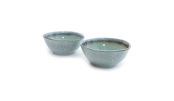 Juego de 2 WAN de loza turquesa azul – Cuenco para arroz ...