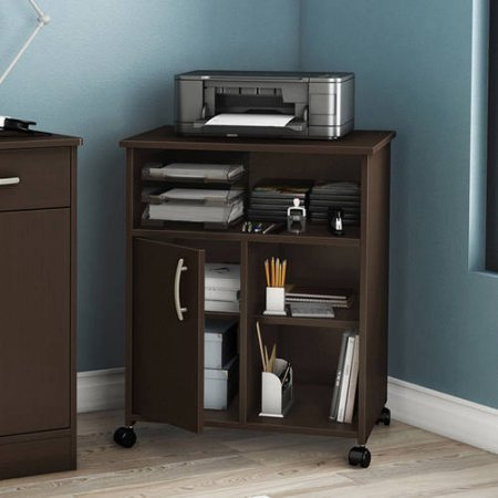 Contemporary Style South Shore Smart Basics Printer Stand (Chocolate) (Office Furniture Printer Stand)