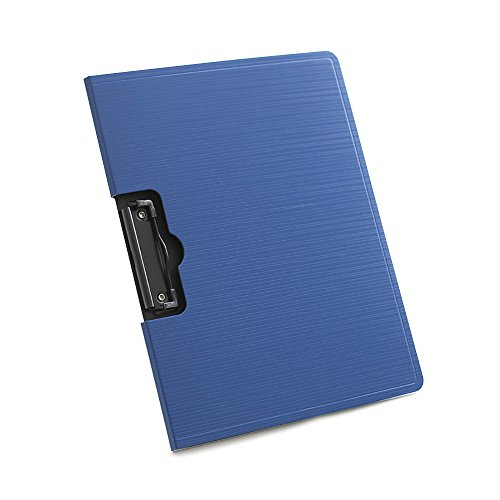 Jia Hu Clipboard File Foolscap Foldover Document Organiser with Cover for School Office Gift Blue by Jia Hu
