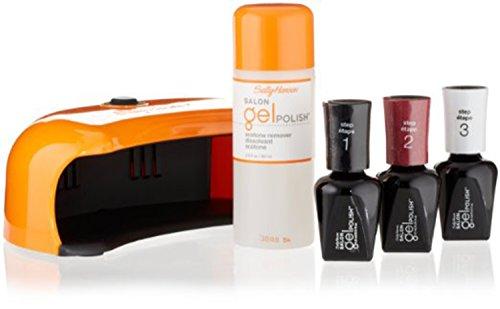 Sally Hansen Salon Pro Gel Starter Kit, Wine Not, Plus Adapter