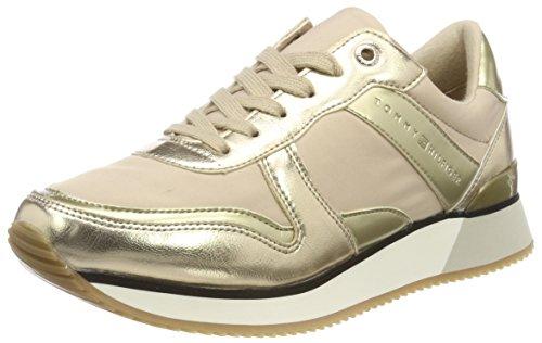 Sneaker Scarpe Basse Da 102 sand Metallic Hilfiger Beige Tommy Ginnastica Donna xZnPOqa