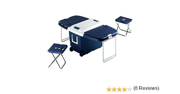 EZetil - Nevera de Camping Convertible con Mesa (30 L, 55 x 37 x ...