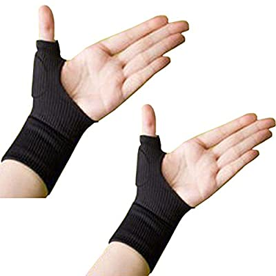 BUYITNOW Gel Wrist Support Brace, Gel Thumb Hand Wrist Support Gloves Therapy Arthritis Compression for Men & Women ( 1 Pair )