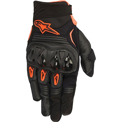 Alpinestars S8 Megawatt Men's Off-Road Motorcycle Gloves - Black/Orange / XX-Large