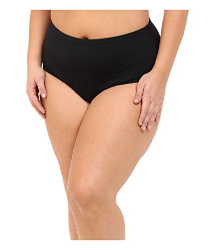 6177fddaf3ec1 LAUREN Ralph Lauren Women's Plus Size Beach Club Solids Solid High Waist  Hipster Bottoms Black Swimsuit Bottoms