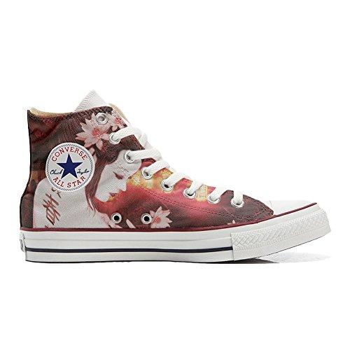 Hi Schuhe personalisierte Geisha Customized Schuhe Converse Star Conver All Handwerk qvAXnIEPW