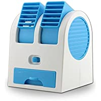 Desk Table USB Fan,Portable Air Conditioning Mini Fan Air Cooler Home Office (Blue)