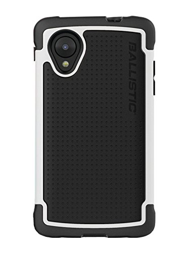 Ballistic Tough Jacket Case for the LG Nexus 5 D820/D821 released 2013 - Retail Packaging - Black/White
