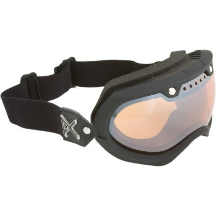 Anon Vintage Goggles (2012 Closeout) - black emblem/silver amber lens (Goggle Anon Sale)
