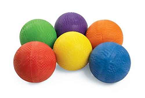 (12 Pack) Rubber Kick Balls 8.5 inch DodgeBall Playground balls for Kids and Adults - Official Size for Dodge Ball, Handball by Biggz
