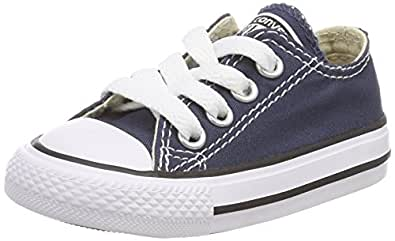 Converse Kid's Chuck Taylor All Star Low Top Shoe, Navy, 1 M US Little Kid