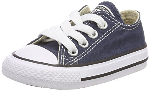 Converse Chuck Taylor All Star Canvas Low Top Sneaker navy 12 M US Little -